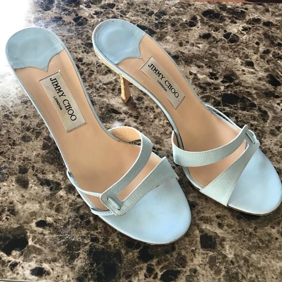 04b905def9b Jimmy Choo Shoes - Jimmy Choo baby blue slide on heels